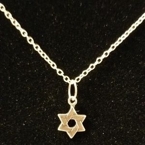 925 sterling silver star of David with chain